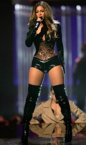 Beyonce in Leather Boots